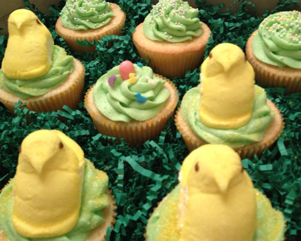 Easter Cupcakes featuring Peeps Chicks